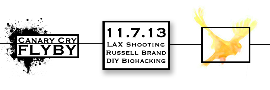 FLYBY: LAX Shooting, Russell Brand & DIY Biohacking 11.7.13